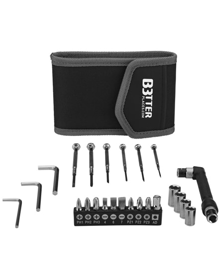 branded pockets 24-piece tool set in small pouch