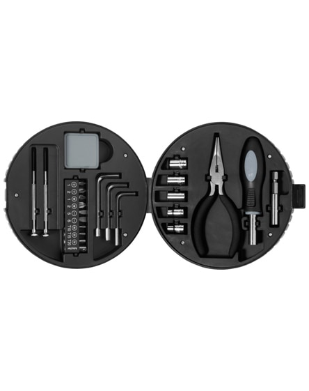 branded rage 25-piece tyre-shaped tool set