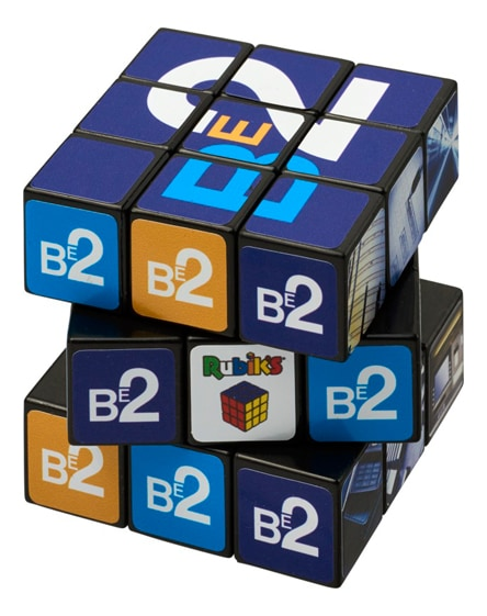 branded rubik's cube with branding on all sides