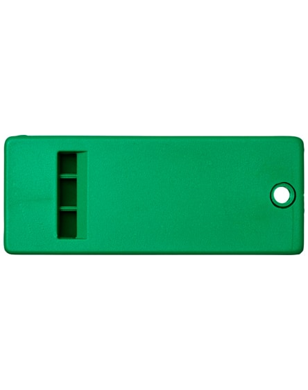 branded wanda flat whistle with large branding surface