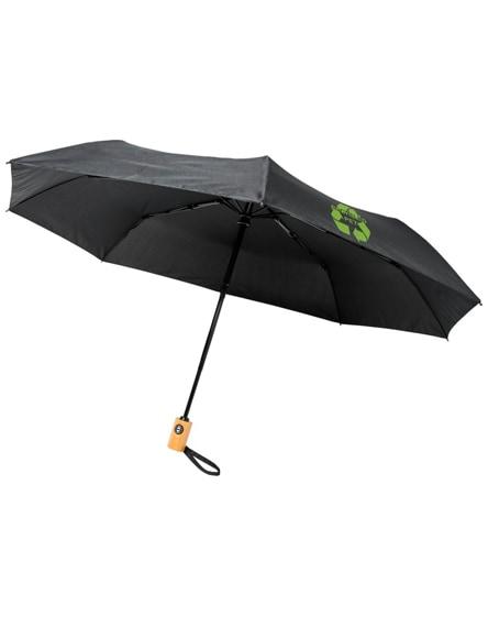 "branded bo 21"" fold. auto open/close recycled pet umbrella"