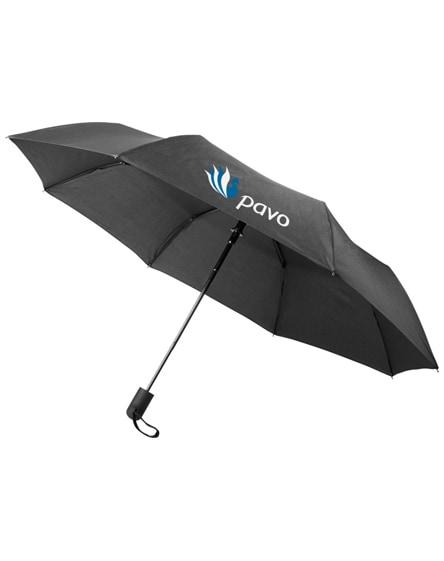 "branded gisele 21"" heathered auto open umbrella"