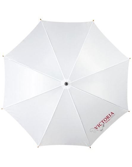 """branded kyle 23"""" auto open umbrella wooden shaft and handle"""