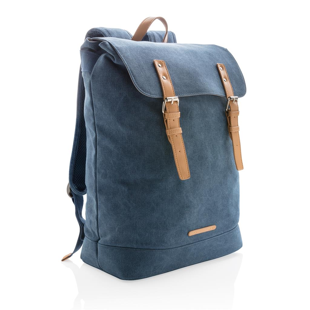 Canvas Laptop Backpack Pvc Free