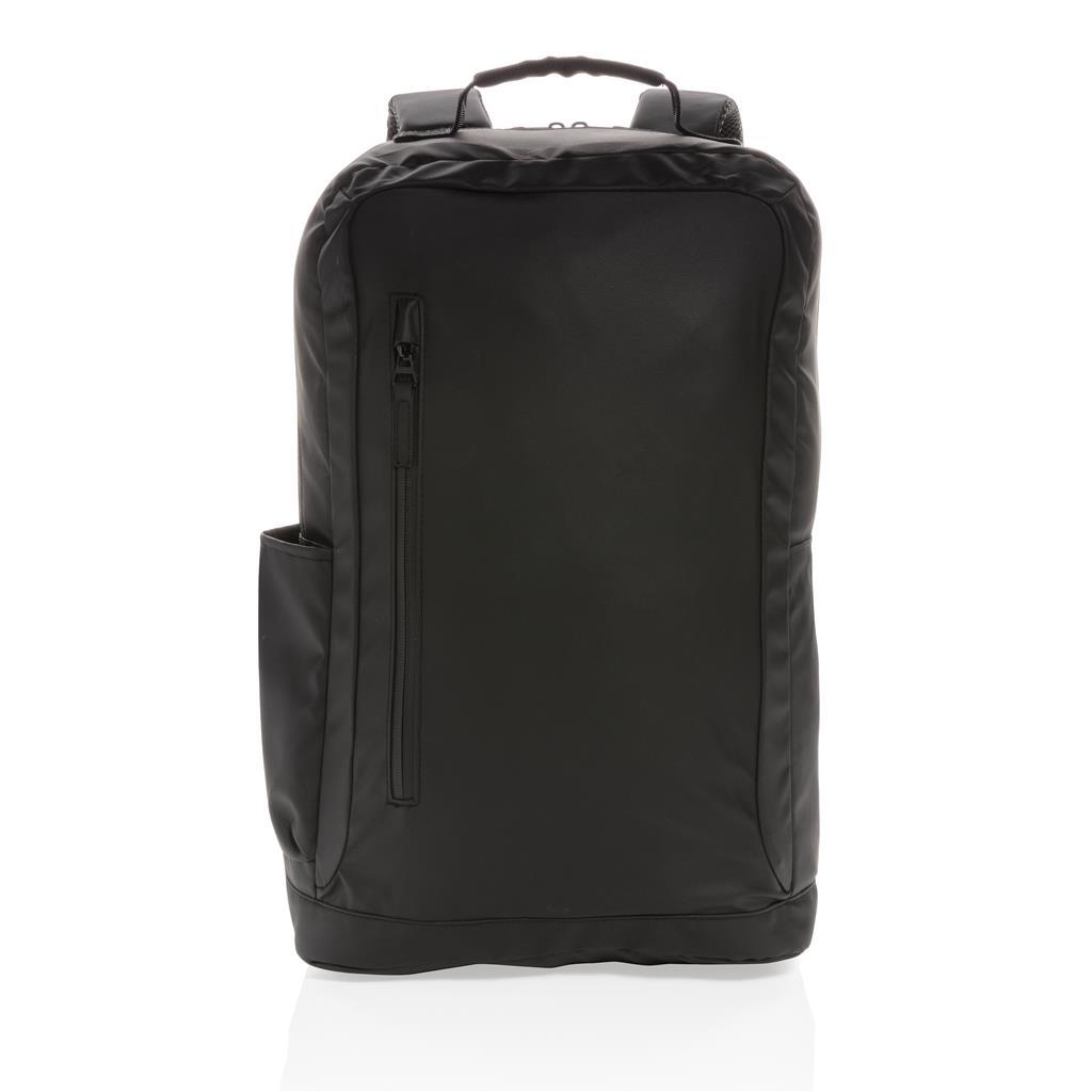 "Fashion Black 15.6"" Laptop Backpack Pvc Free"