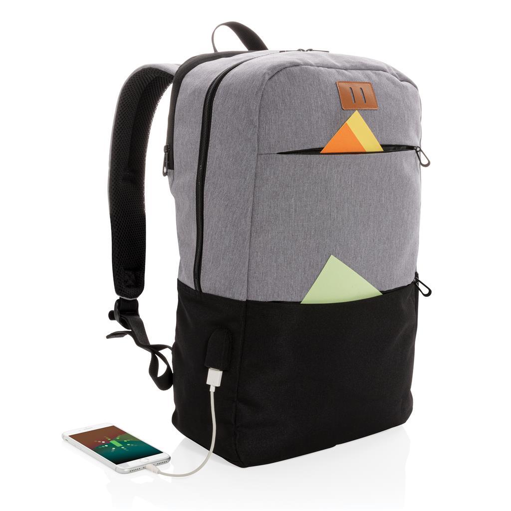 "Modern 15.6"" Usb & Rfid Laptop Backpack Pvc Free"