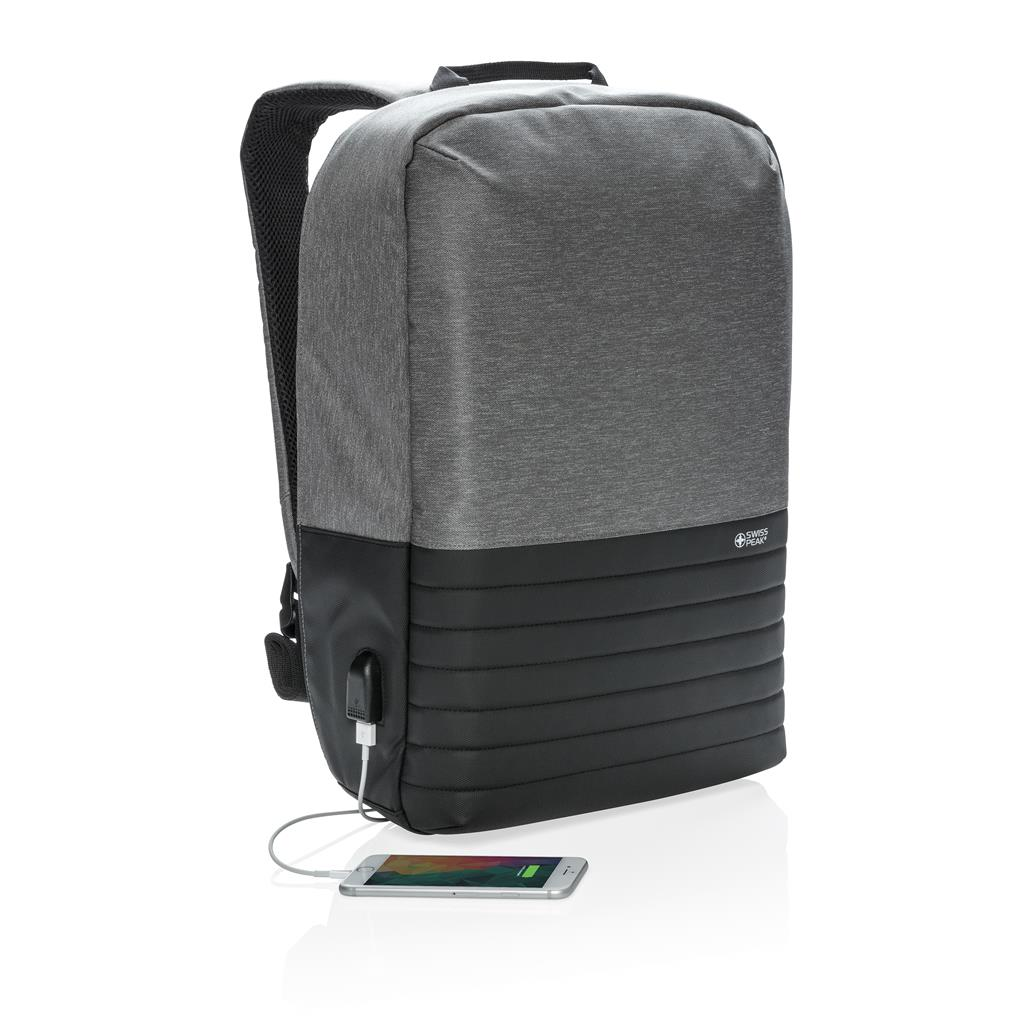 "Swiss Peak Rfid Anti Theft 15"" Laptop Backpack"