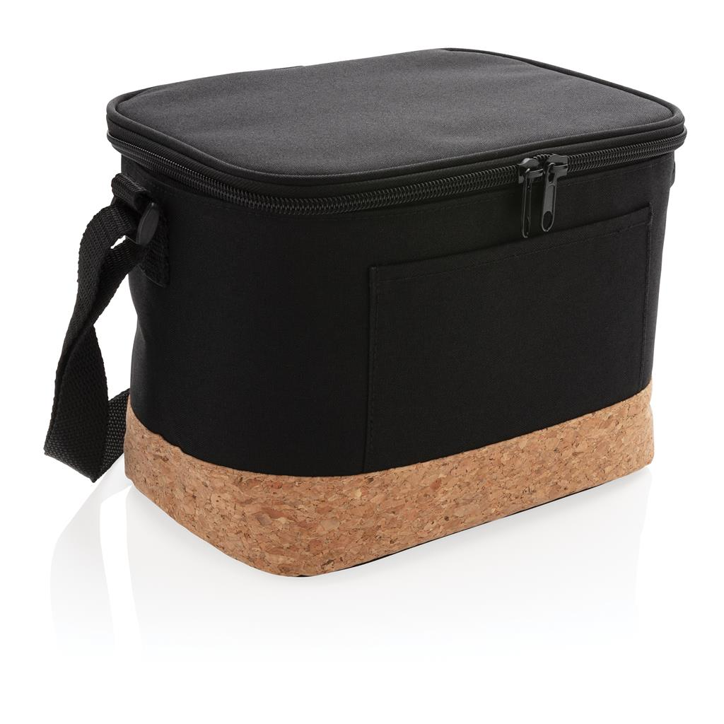 Two Tone Cooler Bag With Cork Detail