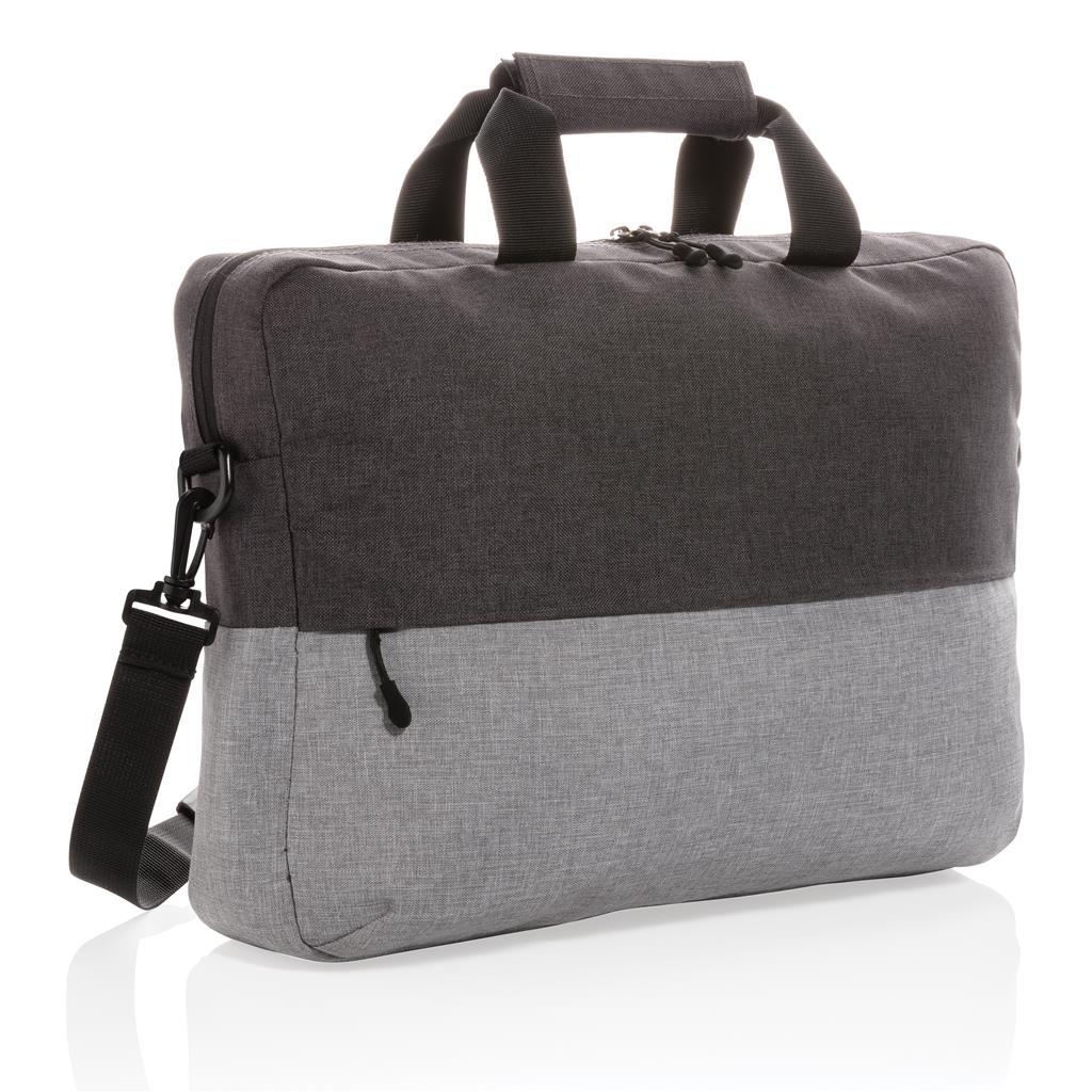 "Duo Color Rpet 15.6"" Rfid Laptop Bag Pvc Free"