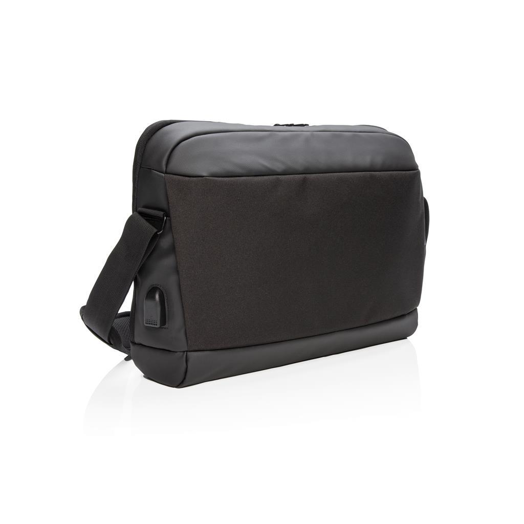 """Madrid Rfid Usb 15.6"""" Laptop Bag Pvc Free"""