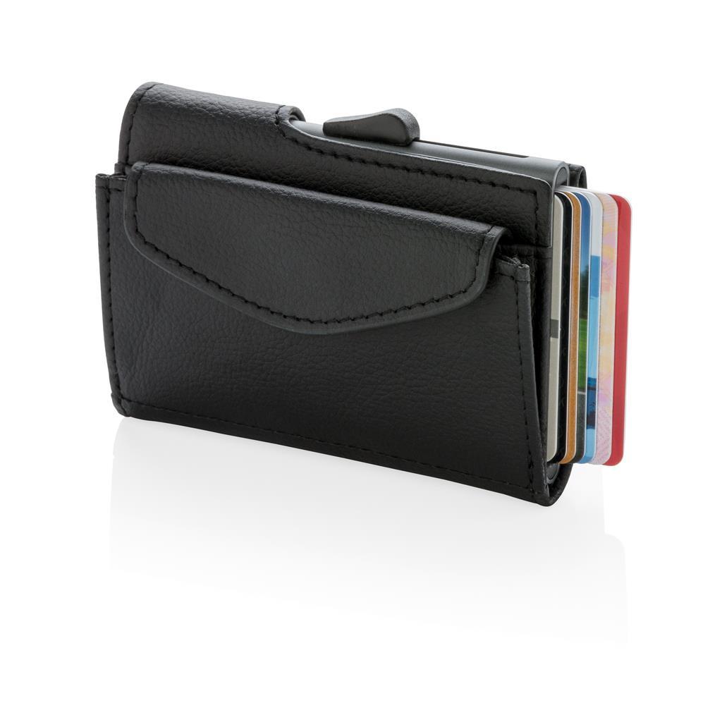 C Secure Rfid Cardholder & Coin Key Wallet