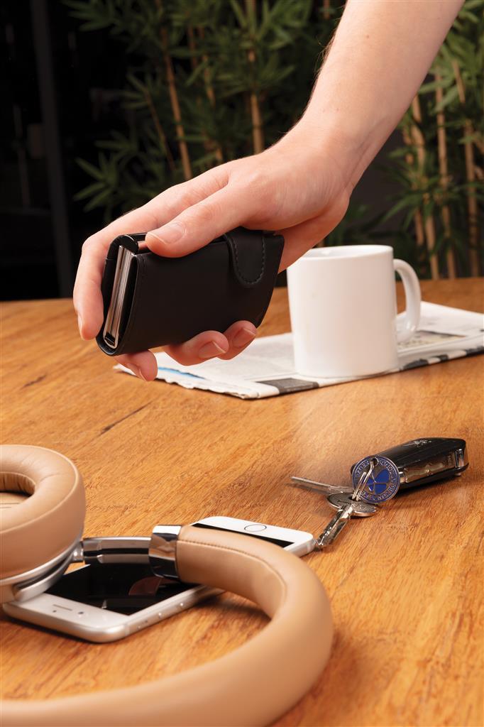 Standard Aluminium Rfid Cardholder With Pu Wallet