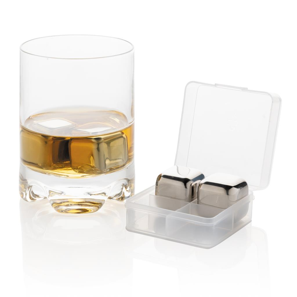 Re Usable Stainless Steel Ice Cubes 4Pc