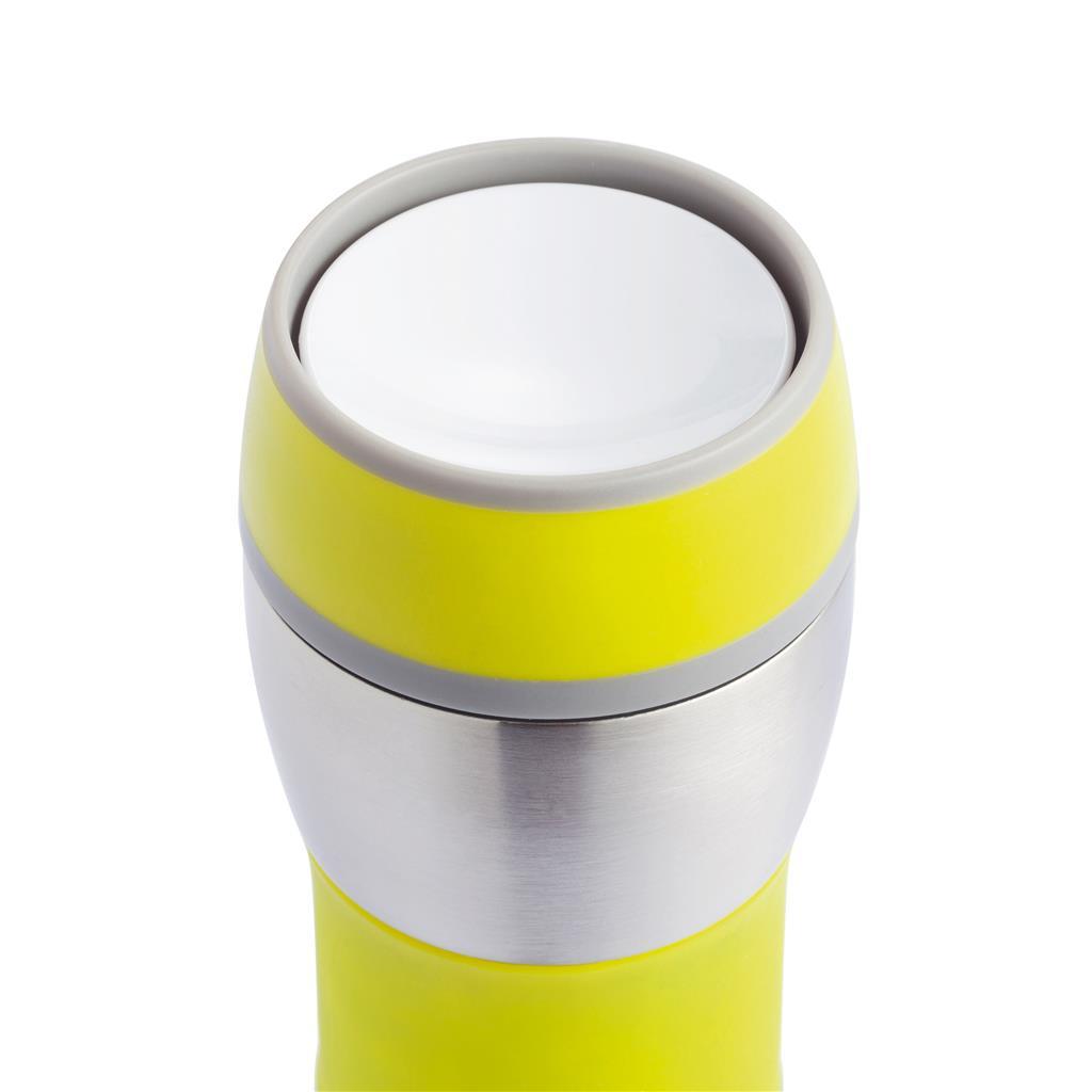 Double Wall Leak Proof Push Mug