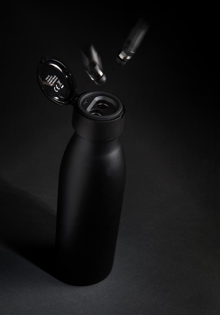 Swiss Peak Vacuum Bottle With Mini True Wireless Earbuds