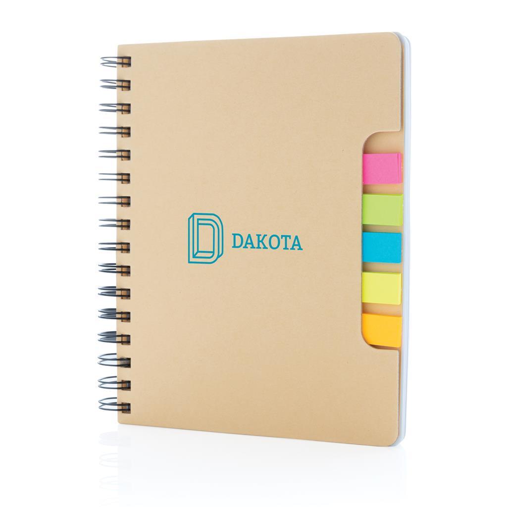 A5 Kraft Spiral Notebook With Sticky Notes