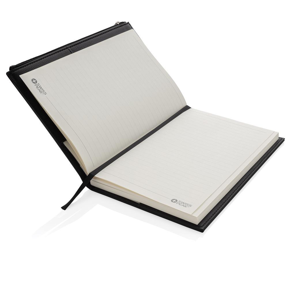 Swiss Peak A5 Pu Notebook With Zipper Pocket