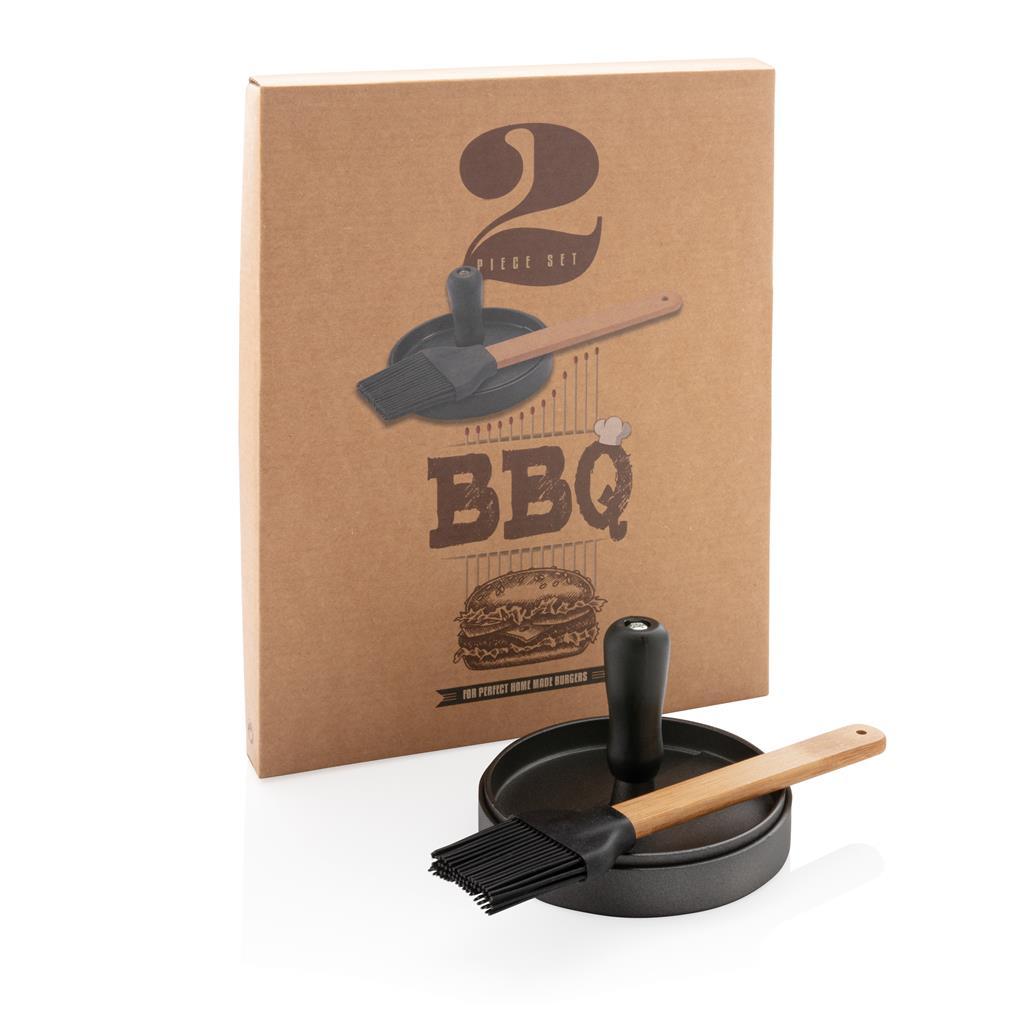 Bbq Set With Hamburger Press And Brush