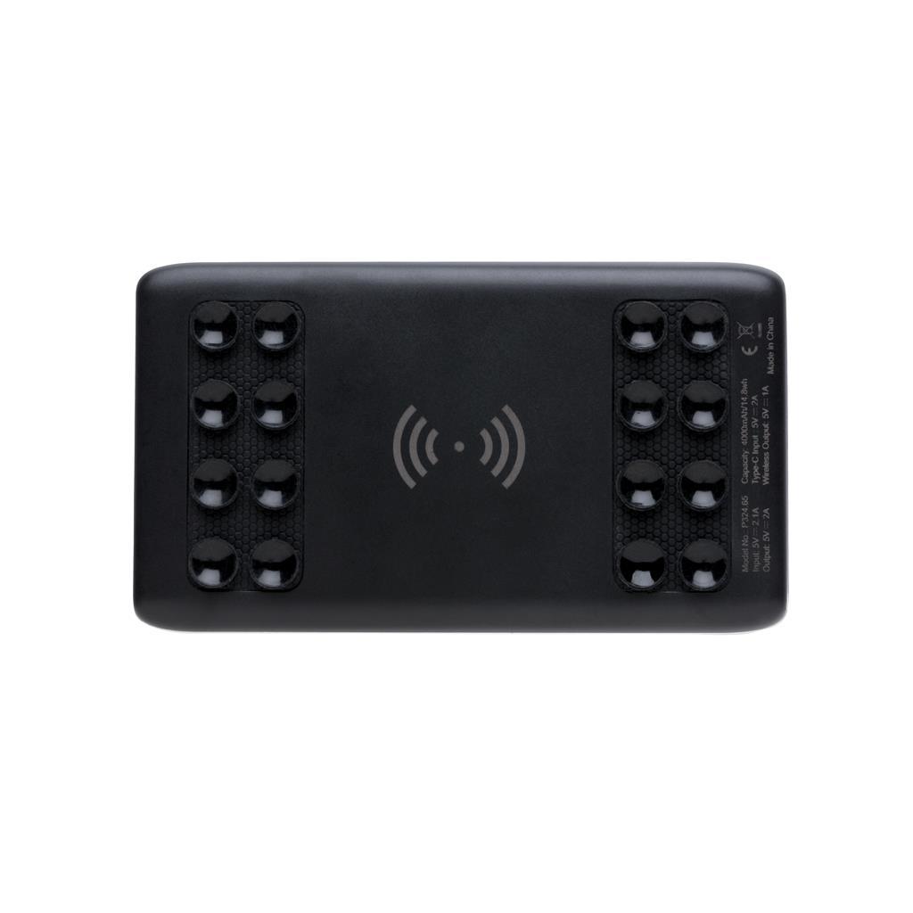 4000mah Wireless Powerbank With Suction Pads