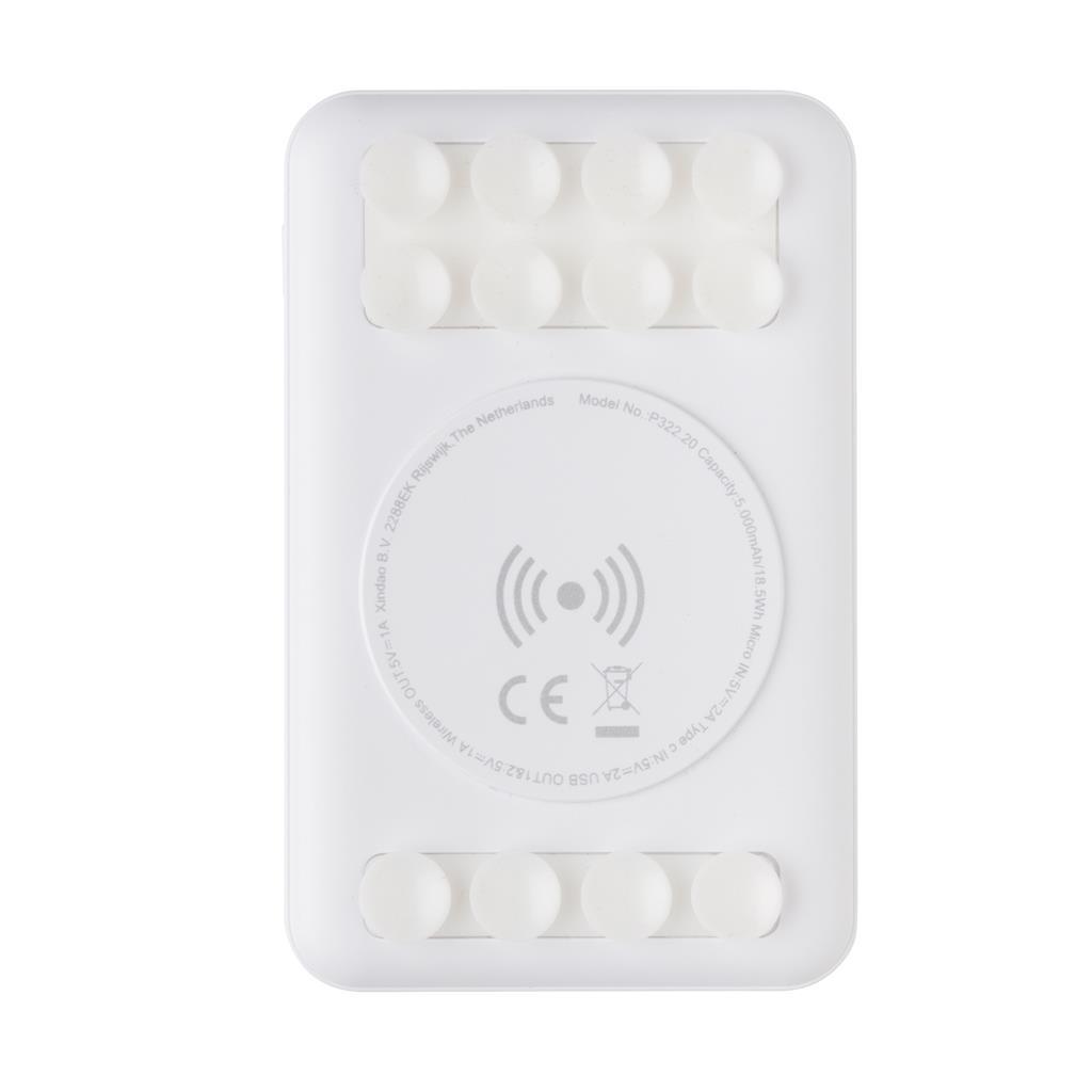 5000mah Wireless Charging Pocket Powerbank