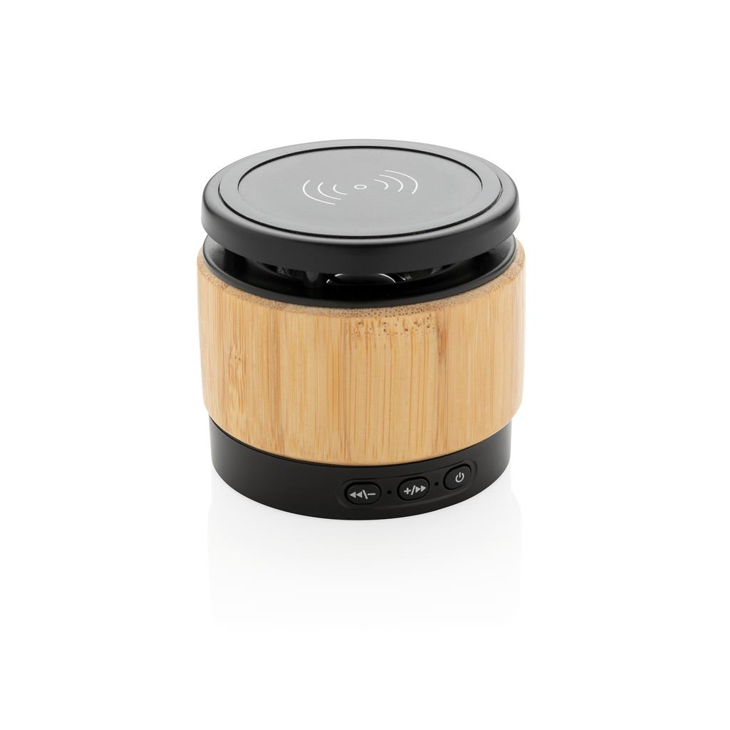 Bamboo Wireless Charger Speaker