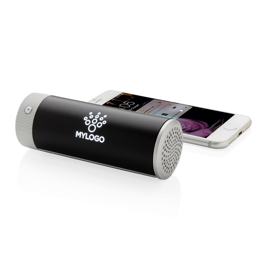 Engraved Sample Light Up Logo Wireless Speaker And Powerbank
