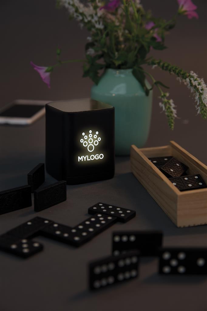 Engraved Sample Of Light Up Logo Wireless Speaker