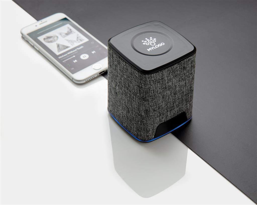 Light Up Logo Fabric 3W Wireless Speaker