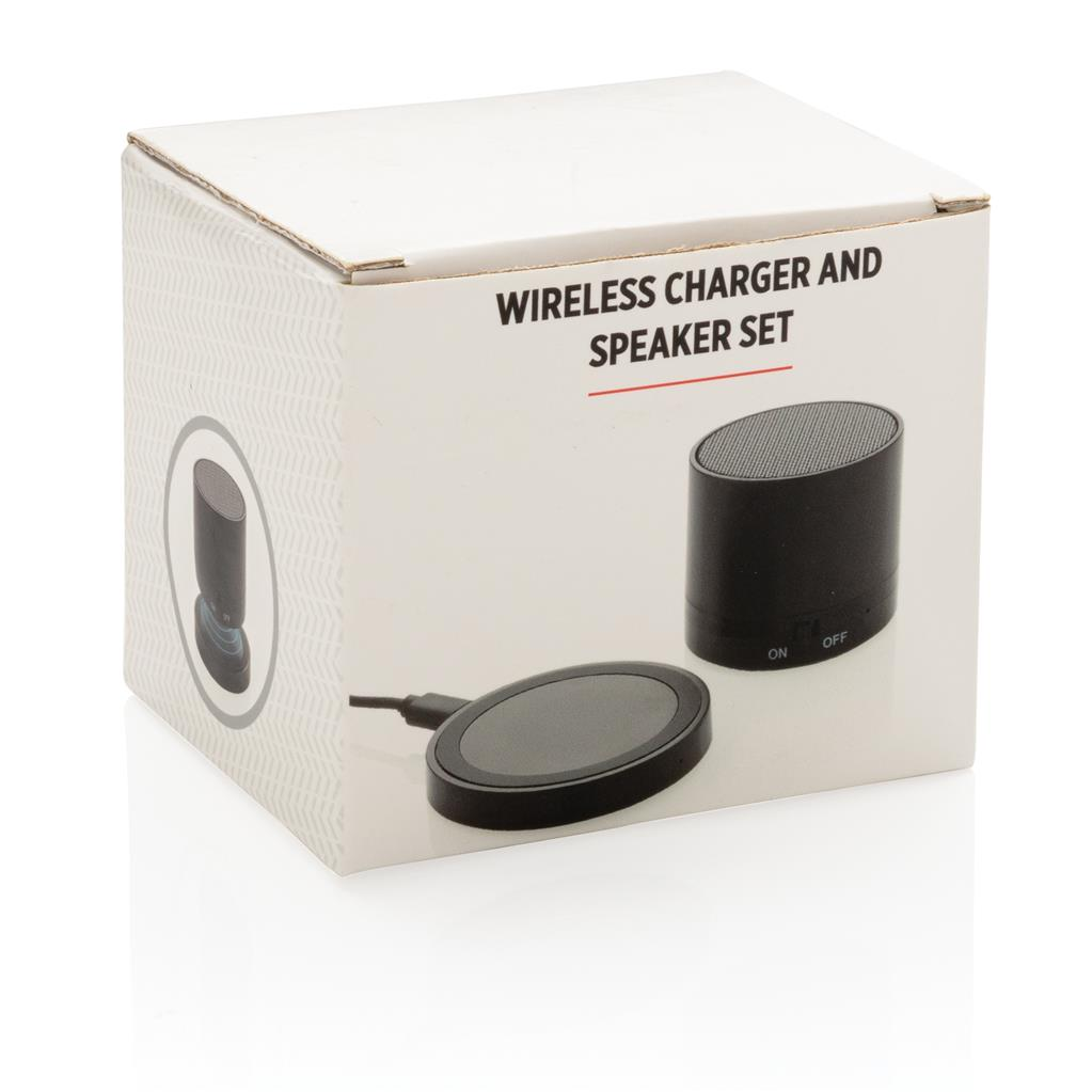 Wireless Charger And Speaker Set