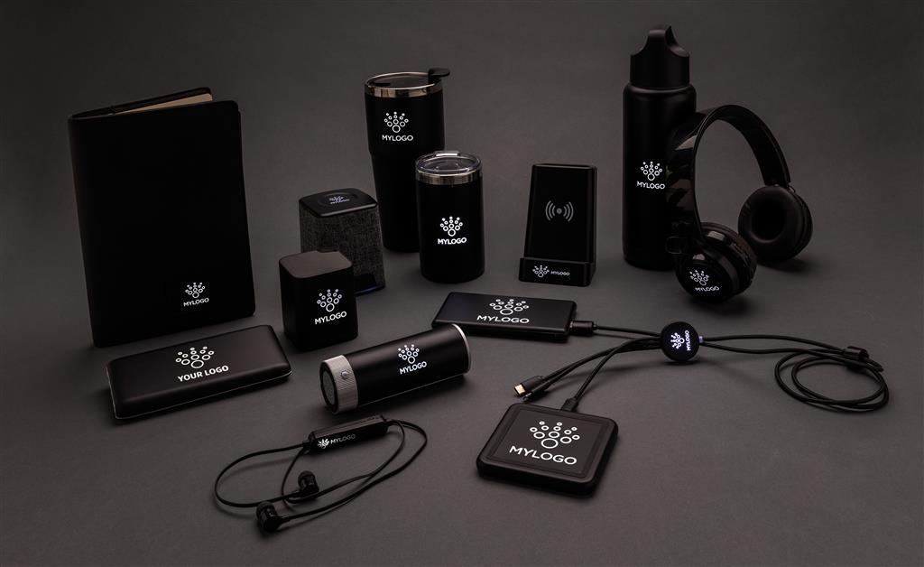 Light Up Logo 5W Wireless Charging Pen Holder