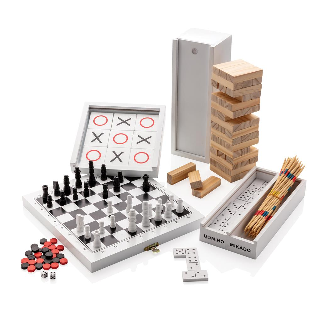 Deluxe 3 In 1 Board Game In Wooden Box