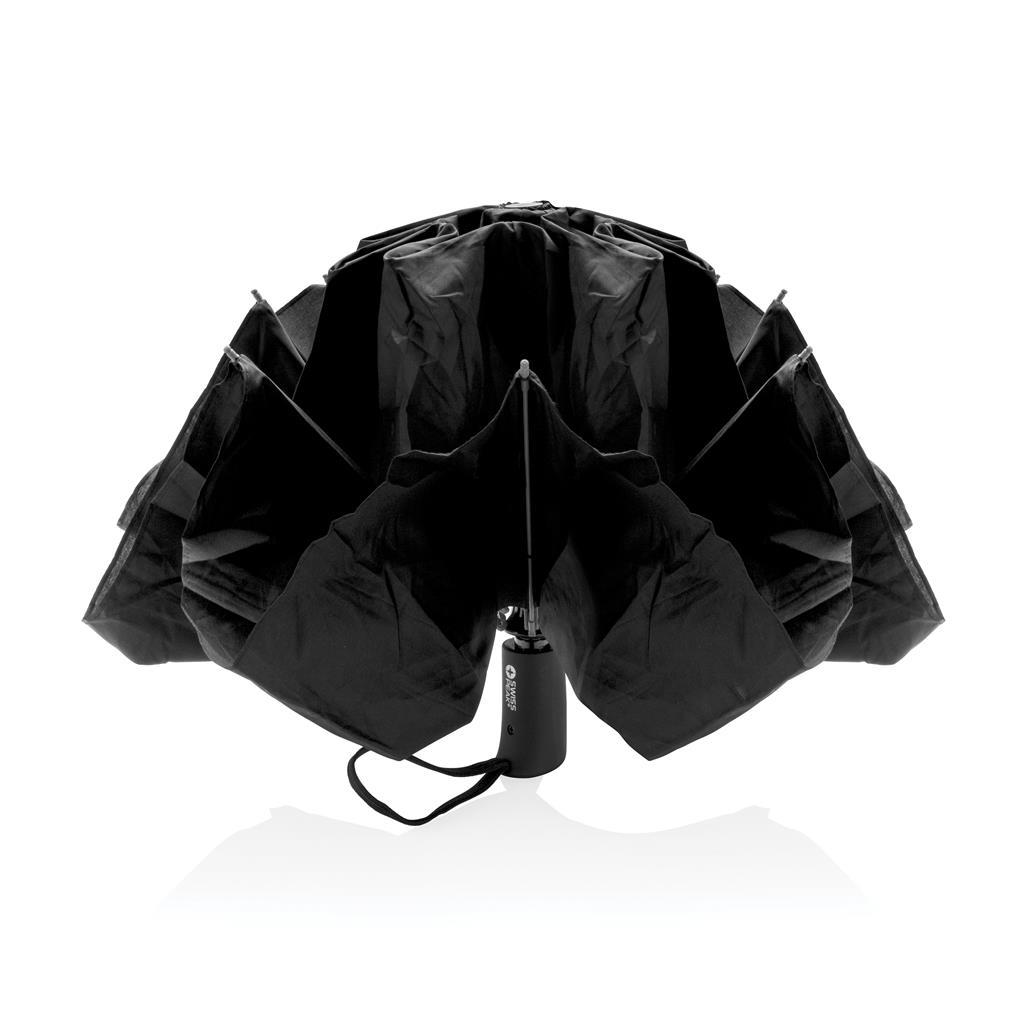 "Swiss Peak 23"" Foldable Reversible Auto Open Close Umbrella"