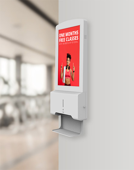 Digital automatic hand sanitiser with screen