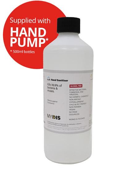 sanitiser hand gel for covid-19 coronavirus alcohol-free
