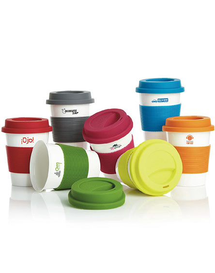 eco pla branded reusable coffee cups