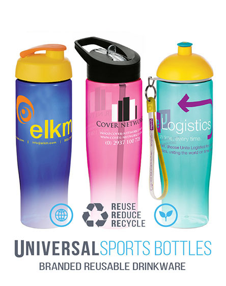 h2o Tempo sports bottles branded drinkwear universal mugs