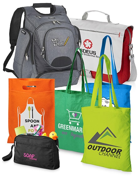 Branded Bags, Cotton Totes, Backpacks and Laptop bags