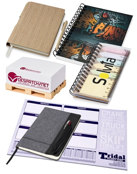 branded notepads and paper products