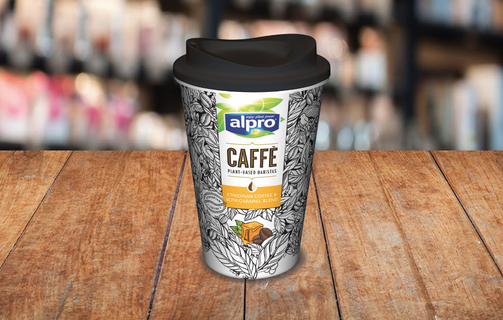 Alpro Caffe reusable coffee cups by Universal Mugs