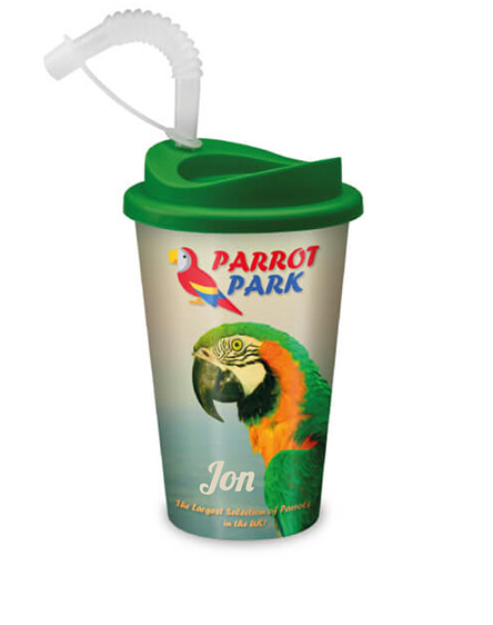 branded and individually personalised reusable cups